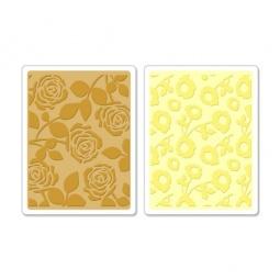фото Набор форм для эмбоссирования Sizzix Textured Impressions Помпоны и розы