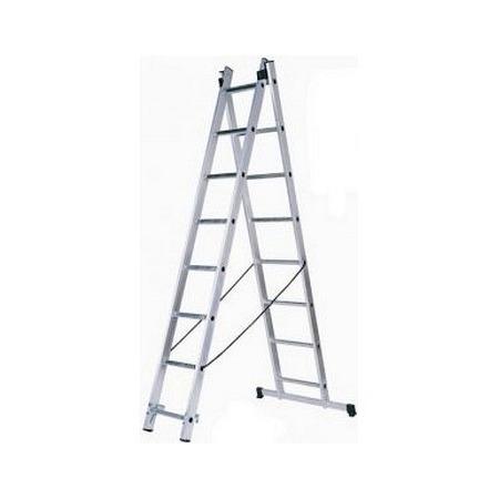 Купить Лестница двухсекционная со стабилизатором Зубр 38821-11