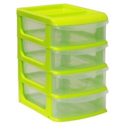 фото Бокс для хранения мелочей мини IDEA М 2763. Цвет: салатовый. Количество полок: 4