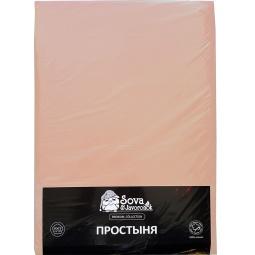 фото Простыня гладкокрашеная Сова и Жаворонок Premium. Цвет: светло-бежевый. Размер простыни: 145х220 см