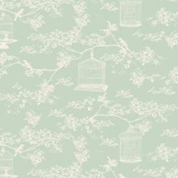 фото Отрез ткани Tilda Тойле с клеткой. Цвет: зеленый