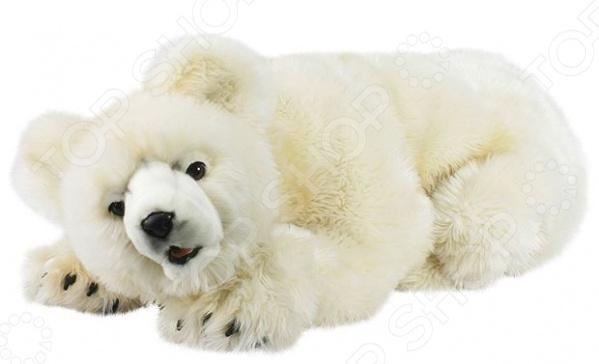 Мягкая игрушка Hansa «Медведь кремовый»Мягкие игрушки<br>Не секрет, что, наряду с куклами и машинками, мягкие игрушки являются самыми популярными и часто покупаемыми игрушками в мире. Ну какая детская без милого плюшевого медвежонка или забавного длинноухого зайчика. Их любят как дети, так и взрослые. Одни в них играют, другие дарят в качестве памятного сувенира, а третьи собирают целые мягкие коллекции. Совсем как настоящий Мягкая игрушка Hansa Медведь кремовый станет чудесным подарком для вашего любимого чада. Она удивительно не похожа на другие мягкие игрушки, а все потому, что визуально максимально схожа с оригиналом. Ощущение, будто перед вами совсем не игрушка, а настоящий белый медведь. И да, медвежонок совсем не против того, чтобы ее погладили по пушистой шерстке.  К особенностям игрушки Hansa Медведь кремовый можно отнести:  жесткий металлический каркас;  наполнитель из полиэфирных волокон;  качественную пластиковую фурнитуру. Игрушка, как уже упоминалось выше, отличается особой реалистичностью и вниманием к деталям. Ее дизайн, фактура шерсти и окрас продуманы до самых мелочей и полностью соответствуют выбранному прототипу. Достигается это, благодаря тому, что все игрушки марки Hansa шьются, набиваются и раскрашиваются вручную.<br>