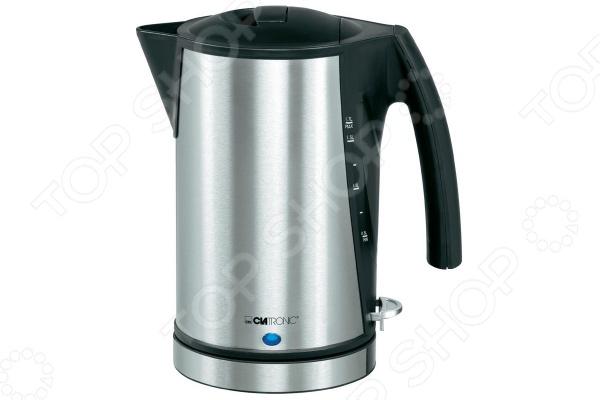 Чайник Clatronic WKS 3288Чайники электрические<br>Чайник Clatronic WKS 3288 сочетает в себе современный дизайн, высокое качество материалов и простоту использования. Прибор без труда нагревает и кипятит воду объемом до 1,7 л, а световой индикатор и мерная шкала на корпусе позволяют контролировать состояние воды. Система автоотключения не позволит включить чайник без воды и автоматически отключит его после закипания, чтобы предотвратить выкипание воды и возможные повреждения прибора. Кроме того, предусмотрены специальный отсек для хранения шнура питания и съемный фильтр.<br>