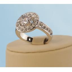 Купить Кольцо «Королева». Цвет: белый