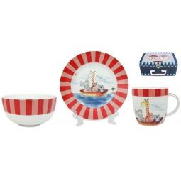 Купить Набор посуды для детей Elan Gallery «Веселые путешественники»