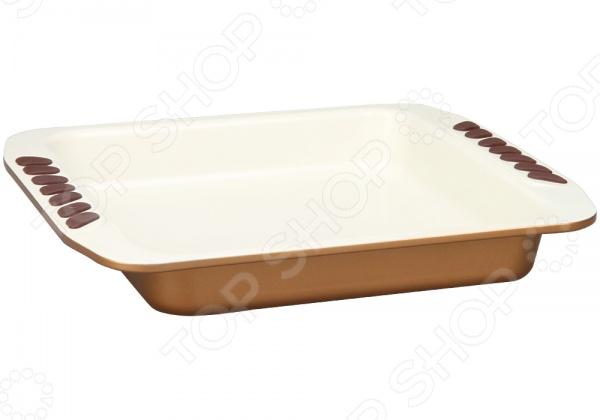 Форма для запекания керамическая POMIDORO Q2211Керамические формы для выпечки и запекания<br>Форма для запекания керамическая POMIDORO Q2211 станет отличным дополнением к набору ваших кухонных принадлежностей. Сегодня такие формы приобретают все большую популярность как у простых домохозяек, так и у профессиональных кулинаров. Они достаточно функциональны и удобны в использовании, подходят для выпекания кексов, запеканок, тартов, пирогов и т.д. Форма выполнена из углеродистой стали и снабжена силиконовыми вставками и керамическим покрытием Kerano. Данное покрытие не содержит в своем составе, вредную для здоровья, перфоктановую кислоту PTFE , не вступает в реакции с продуктами и не искажает вкус приготовленных блюд.<br>
