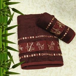 фото Полотенце махровое Mariposa Tropics bordo. Размер полотенца: 70х140 см
