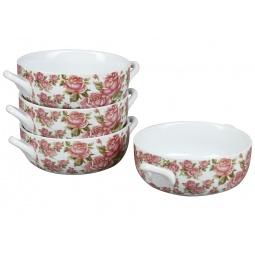 фото Набор суповых тарелок Rosenberg 9262. Рисунок: корейская роза