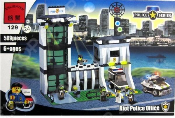 Конструктор игровой Brick «Полицейский участок» 1717091