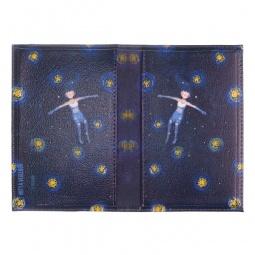 фото Обложка для паспорта двухсторонняя Mitya Veselkov «Девочка звездной ночью»