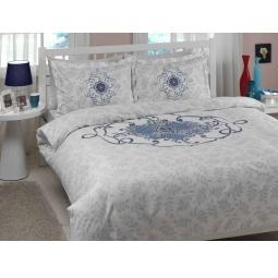 фото Комплект постельного белья TAC Alissa. Евро. Цвет: голубой