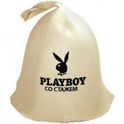 фото Шапка для бани и сауны Банные штучки «Playboy со стажем»