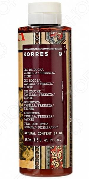 Гель для душа Korres «Ваниль» парфюмированный гель для душа черная ваниль