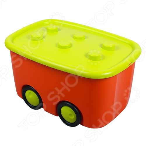 Ящик для игрушек М ПЛАСТИКА Моби - весьма грамотное сочетание веселья и задора, развлечения и развития, созданное специально для вас и вашего дорого малыша! Вместе с Моби ребенок приучиться соблюдать свои игрушки в порядке. Вместительность ящика составляет 55 литров, что достаточно вместительно не только для игрушек, но и для xpaнeния книг, oдeжды и дpугиx дeтcкиx вeщeй. Основными преимуществами данной модели стали: материал изготовления абсолютно безопасен для детей , назначение, эргономичный тип конструкции замки плотно фиксируют крышку , разнообразие цветового ряда, возрастная категория, сглаженные углы, облегченная конструкция. Порадуйте себя и свое драгоценное чадо столь интересным, полезным и ярким подарком, как ящик для игрушек М ПЛАСТИКА Моби !
