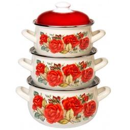 фото Набор посуды Interos 15869 «Розы»