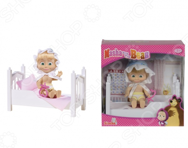 Игровой набор Simba «Маша в кроватке» с аксессуарами кукла маша simba в костюме феи с аксессуарами