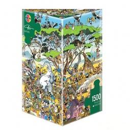 Купить Пазл 1500 элементов Heye «Сафари» Guiseppe Calligaro