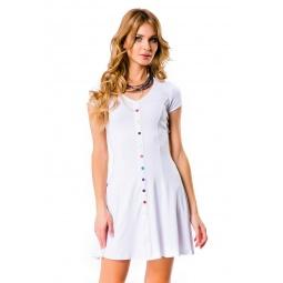фото Платье Mondigo 7055. Цвет: белый. Размер одежды: 48