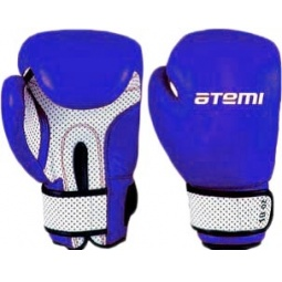 фото Перчатки боксерские ATEMI 02-005B сине-белые. Размер: 8 OZ
