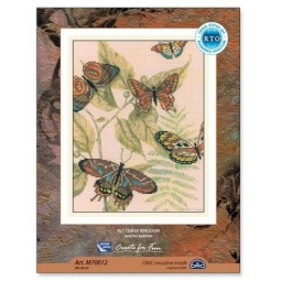 Купить Набор для вышивания крестиком RTO «Царство бабочек» М70012