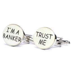 Купить Запонки Mitya Veselkov «Верь мне. Я банкир»
