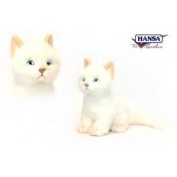 фото Мягкая игрушка для ребенка Hansa «Котенок белый»