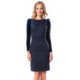 фото Платье Mondigo 5071. Цвет: темно-синий. Размер одежды: 48