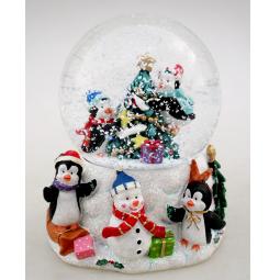 фото Снежный шар декоративный Crystal Deco «Хоровод вокруг елки»
