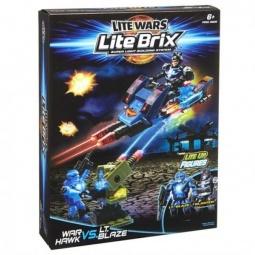 фото Конструктор игровой со световыми эффектами Lite Brix «Военный транспорт и фигурка»