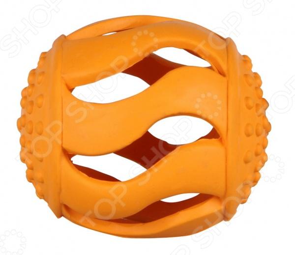 Игрушка для собак DEZZIE «Оранжевый мяч»Игрушки для собак<br>Игрушка для собак DEZZIE Оранжевый мяч обеспечит веселое времяпрепровождение собаке и не даст ей скучать как в домашних условиях, так и во время прогулок по улице. Кроме того, ластичность мягкой резины и специальные прорези и выступы игрушки способствуют тренировке жевательных мышц и массажу десен собаки. Размер изделия 8 см.<br>