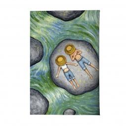 фото Обложка для автодокументов Mitya Veselkov «Мечтатели в панамах на речке»