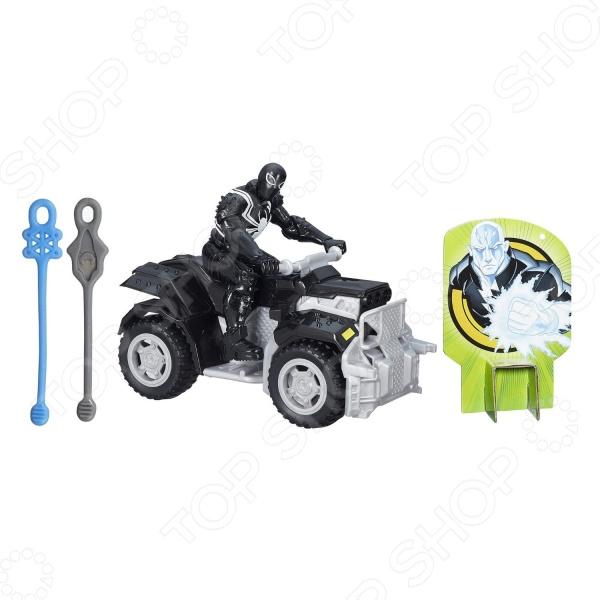 Игровой набор с фигуркой Hasbro «Боевая машина Совершенного Человека-Паука»Игровые наборы с персонажами мультфильмов, сказок и комиксов<br>Игровой набор с фигуркой Hasbro Боевая машина Совершенного Человека-Паука это отличный подарок для вашего малыша. Внутри яркой упаковки можно найти одного из героев комиксов про Человека-Паука, его боевой автомобиль, а также мишень в виде злодея. Для борьбы с врагом, в комплект также входят две паутинки, которые надо прикрепить к машинке, затем натянуть и резко отпустить. Меткий выстрел и злодей повержен! Агент и его машина выполнены из качественных материалов и обладают потрясающей детализацией, что сделает игровой процесс еще более захватывающим. Игровой набор с фигуркой Hasbro Боевая машина Совершенного Человека-Паука способствует развитию зрительной координации, воображения, а также мелкой моторики рук ребенка. Кроме того, тренируется наблюдательность, образное восприятие и логическое мышление.<br>