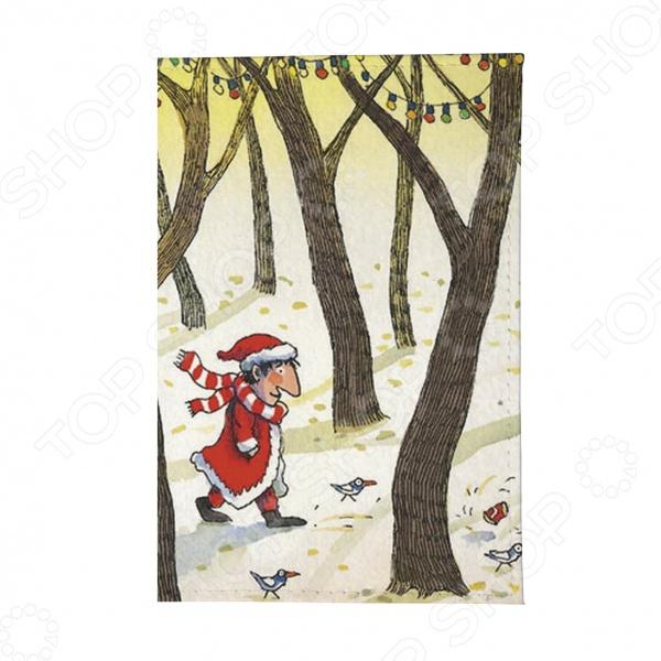 Обложка для автодокументов Mitya Veselkov «Дед Мороз в лесу»