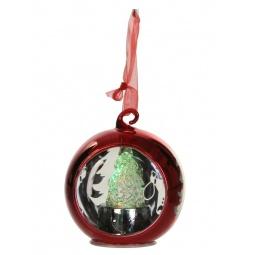 фото Елочное украшение Christmas House со светодиодами «Шар». Цвет: красный