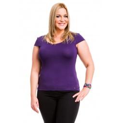 фото Футболка Mondigo XL 7001. Цвет: темно-фиолетовый. Размер одежды: 48