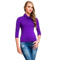 фото Водолазка Mondigo 211. Цвет: фиолетовый. Размер одежды: 42