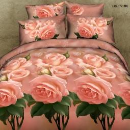 фото Комплект постельного белья с эффектом 3D Buenas Noches Kiss. Семейный