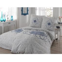 фото Комплект постельного белья TAC Alissa. Семейный. Цвет: голубой