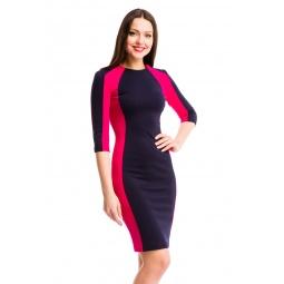 фото Платье Mondigo 5156-1. Цвет: ярко-розовый. Размер одежды: 42