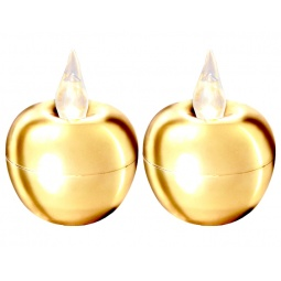 фото Набор из 2-х свечей Star Trading Mini «Яблоко». Цвет: золотистый
