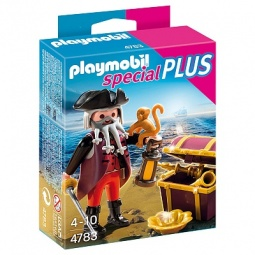 фото Набор фигурок к игровому конструктору Playmobil «Дополнение: Пират и сундук с сокровищами»