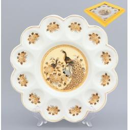 Купить Менажница для яиц Elan Gallery «Павлин на бежевом»