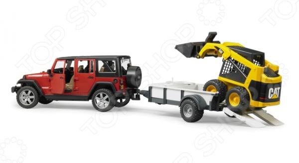 Внедорожник игрушечный Bruder Jeep Wrangler Unlimited Rubicon c прицепом-платформой axial jeep wrangler unlimited c r edition 4wd rtr