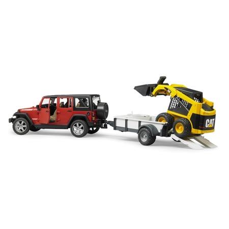 Купить Внедорожник игрушечный Bruder Jeep Wrangler Unlimited Rubicon c прицепом-платформой