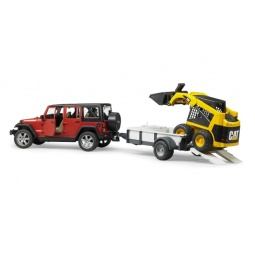 фото Внедорожник игрушечный Bruder Jeep Wrangler Unlimited Rubicon c прицепом-платформой