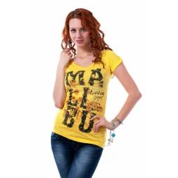 фото Футболка Mondigo 18481. Цвет: желтый. Размер одежды: 46
