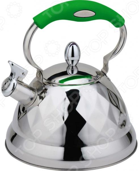 Чайник со свистком Bohmann 688. В ассортиментеЧайники со свистком и без свистка<br>Товар продается в ассортименте. Цвет изделия при комплектации заказа зависит от наличия товарного ассортимента на складе. Чайник Bohmann BH - 7688 оборудован свистком для определения закипания воды и изготовлен из высококачественной нержавеющей стали. Корпус из данного материала долговечен, не подвергается коррозии и обладает антиаллергенными свойствами. Подвижная ручка модели удобно ложится в ладонь. Широкое капсульное дно распределяет тепло равномерно по всей поверхности, что обеспечивает быструю скорость закипания воды и устойчивость изделия. Герметичная крышка не пропускает пар, поэтому вода долго остается горячей. Изящная форма чайника и отполированная поверхность корпуса придают ему эстетичности на столе. Подходит для использования на индукционной плите.<br>
