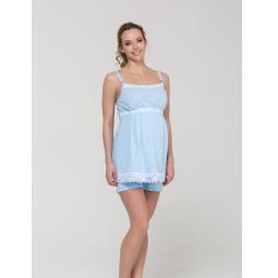 Купить Пижама для беременных Nuova Vita 101.6. Цвет: голубой