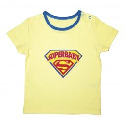 Купить Футболка для малыша SuperBaby. Цвет фона: ярко-жёлтый