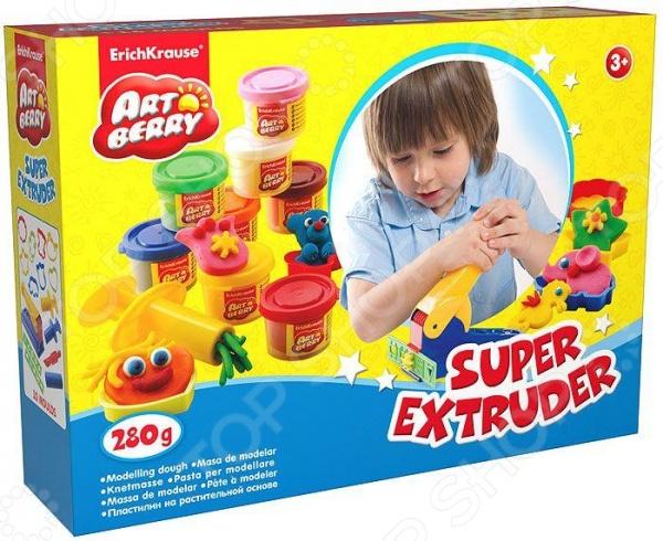 Набор пластилина на растительной основе Erich Krause Super Extruder Playset